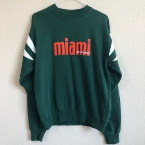 VINTAGE Miami Hurricanes Green Sweatshirt